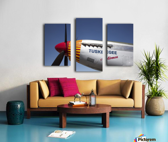 P-51 Redtail Nose Canvas print