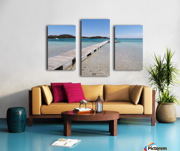 Rondinara beach in Corse Canvas print