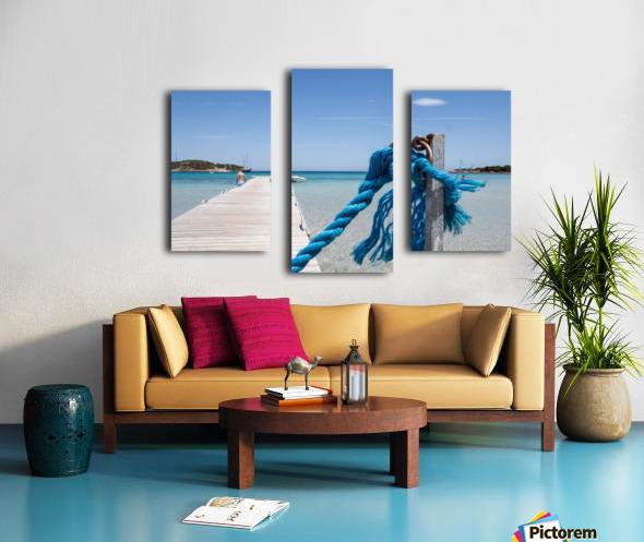 Rondinara beach in Corse Canvas print