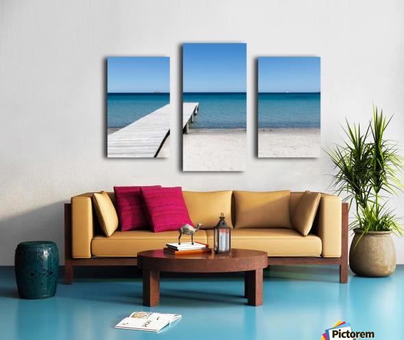Pinarellu beach in Corse Canvas print
