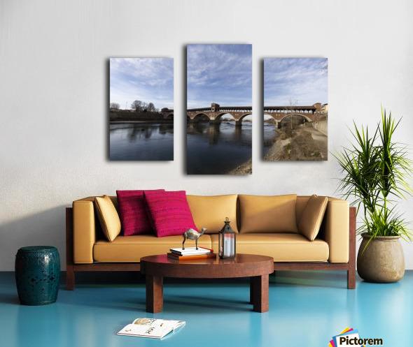 Pavia - Il Ponte coperto Canvas print