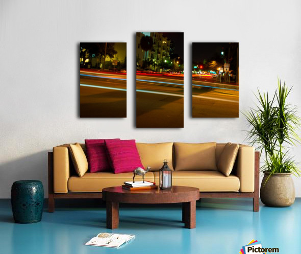 fast lights Canvas print