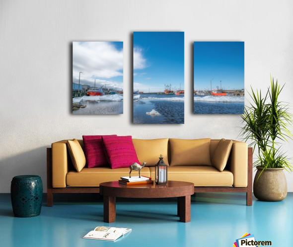 April at la Digue Canvas print