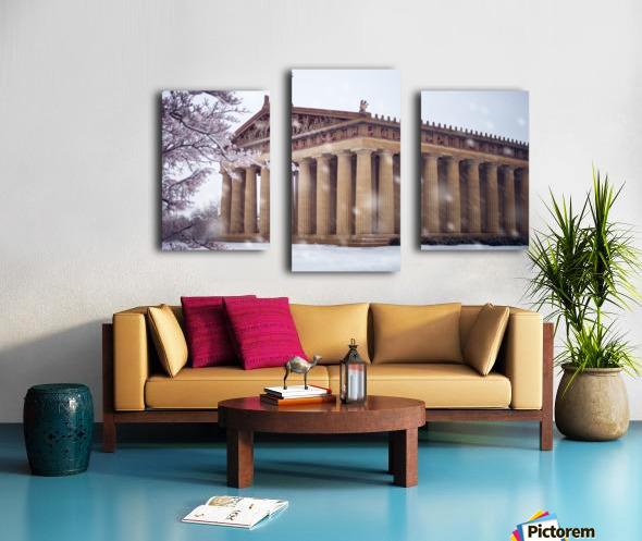 Parthenon in Nashville during winter Canvas print