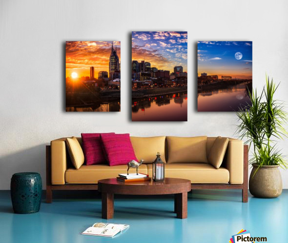 Nashville Skyline and sunset Canvas print
