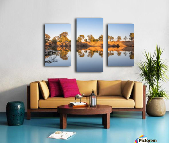 Reflections on the Murray River Canvas print