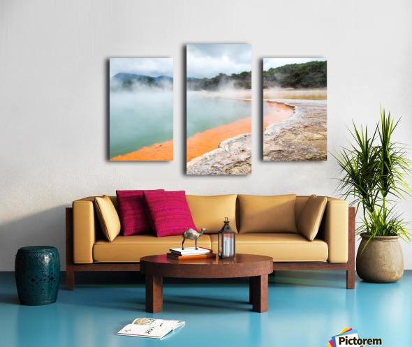 Rotorua Hot pool with steam New Zealand Canvas print