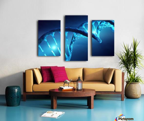DNA structure illuminated Canvas print