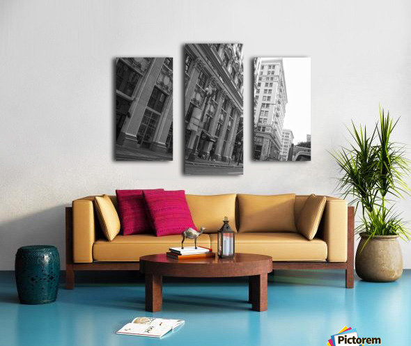 6th & Spring DTLA - B&W Canvas print