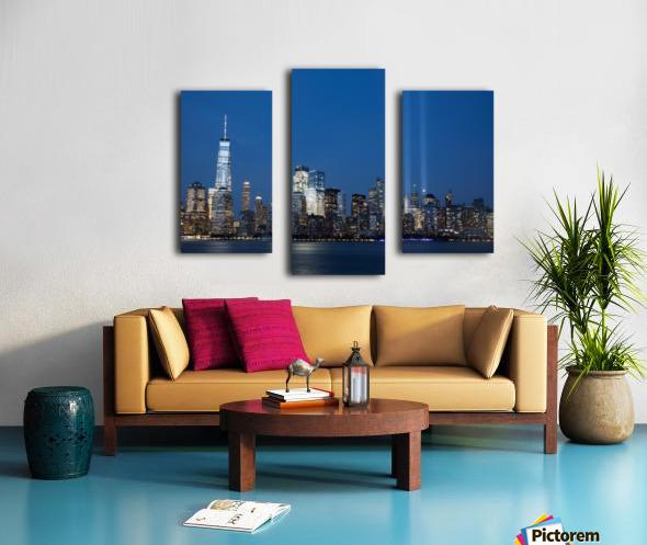911 Memorial Lights NYC skyline Canvas print