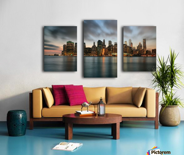 New York City Skyline at Dusk Canvas print
