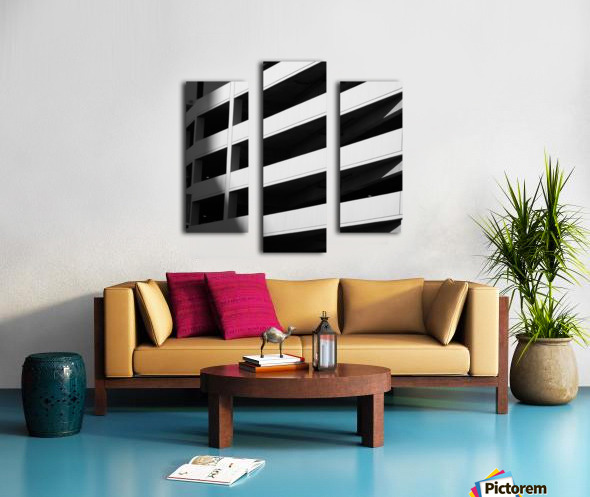 Bold Bands in Black & White Canvas print