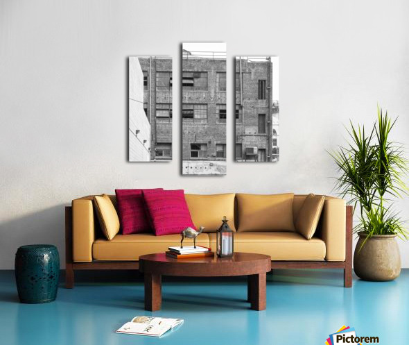 B&W Brick & Windows In Alley - DTLA  Canvas print