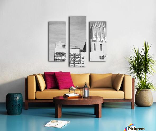 B&W Jesus Saves Building - DTLA Canvas print