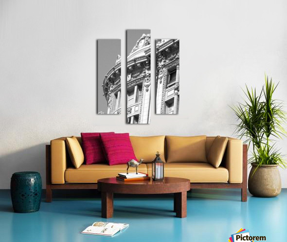 B&W Intricate Details - DTLA Canvas print