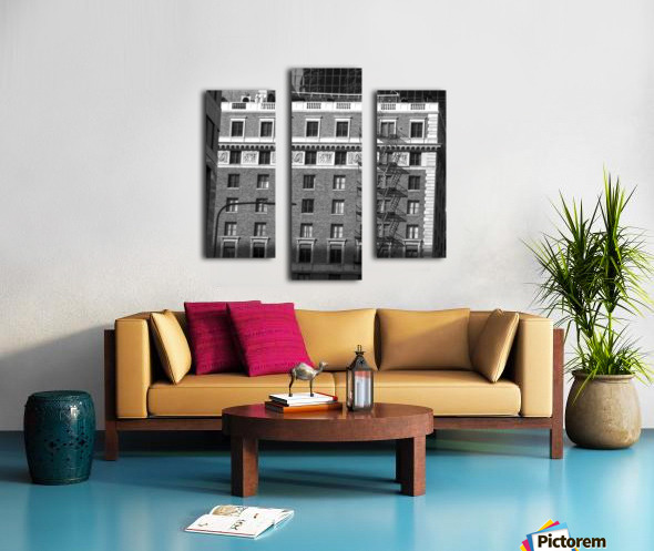 B&W Building Corner Figueroa and 6th Street Canvas print