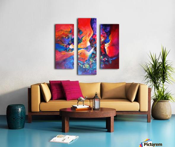 harmony II,size 33 inches x33 inches, medium acrylic on canvas Canvas print