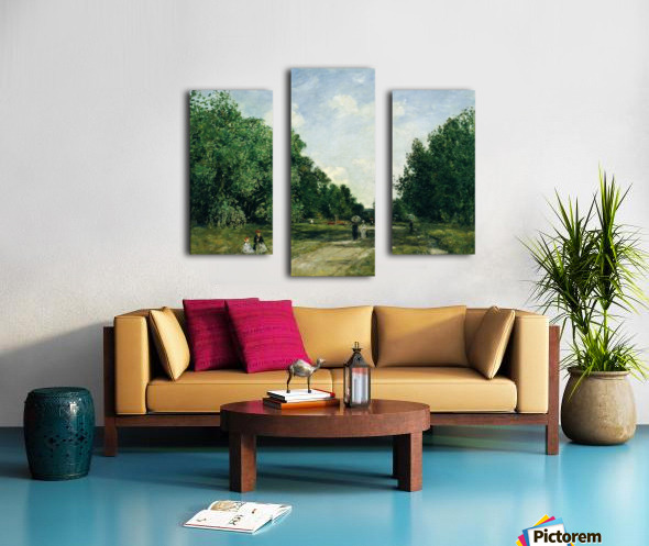 Parc Cordier in Trouville Canvas print