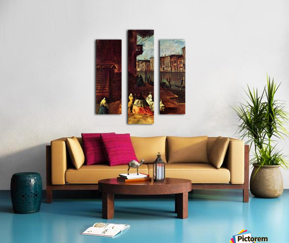 Venice, The Grand Canal with San Geremia, Palazzo Labia, and the Entrance to the Cannaregio Canvas print