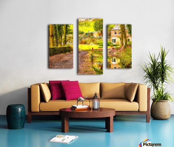 Reflective canal corner Canvas print