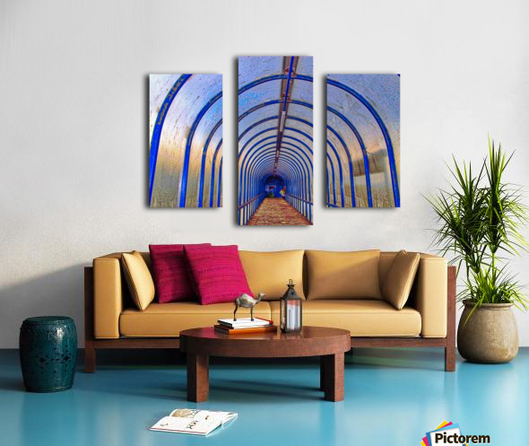 Blue perspective Canvas print