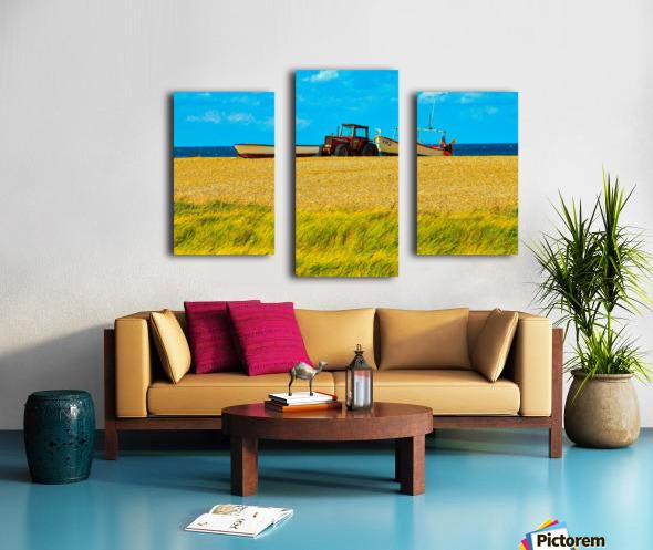 Beach Tractor Canvas print