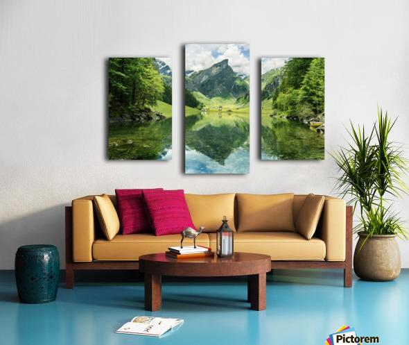Tranquil scene of seealpsee lake  Canvas print