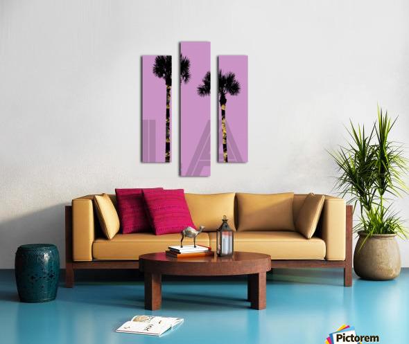 Graphic Art PALM TREES LA | pink Canvas print