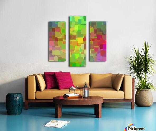 Vivid Squares Canvas print