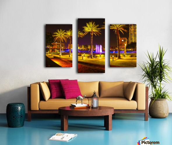 Downtown Palms Canvas print