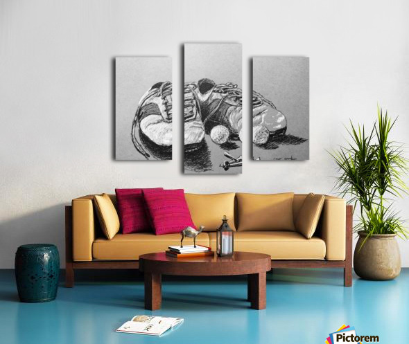 Tired  Nikes Canvas print