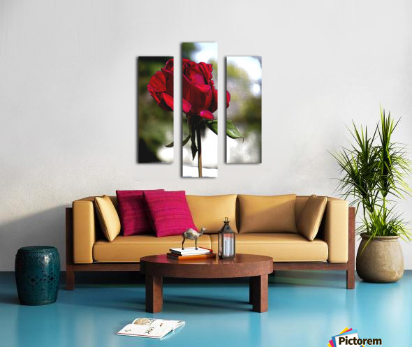 Posterized Rose  Canvas print