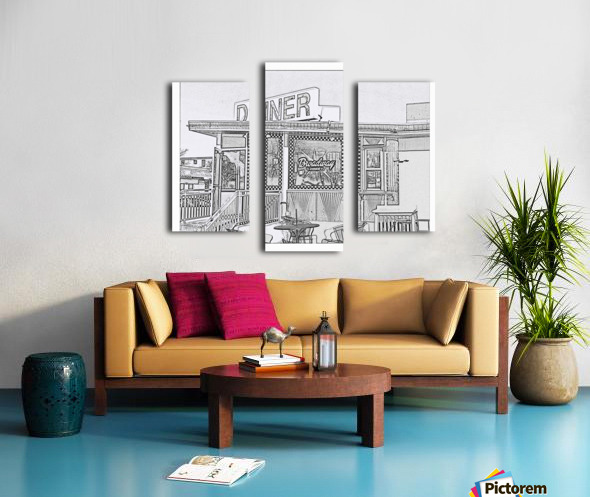 Broadway Diner Canvas print
