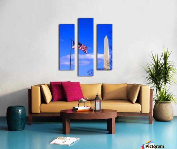 Flag & Washington Monument Canvas print