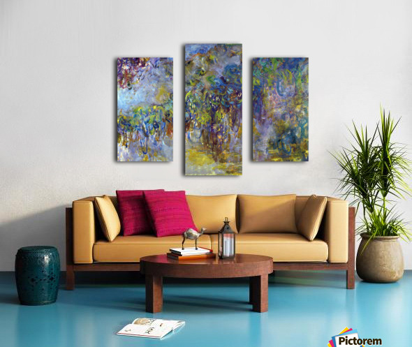 Wisteria -2- by Monet Canvas print