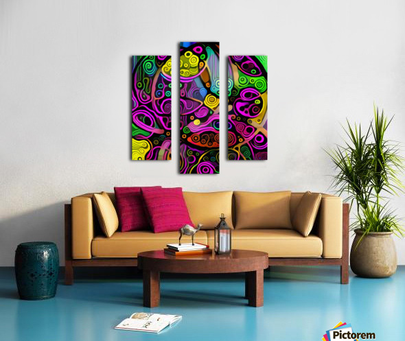 Colorful Abstract Ornament Canvas print