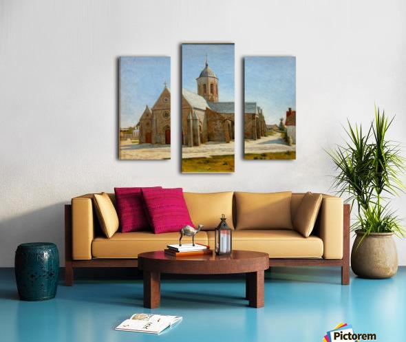 Dunkerque musee BA lesidaner etaple eglise Canvas print