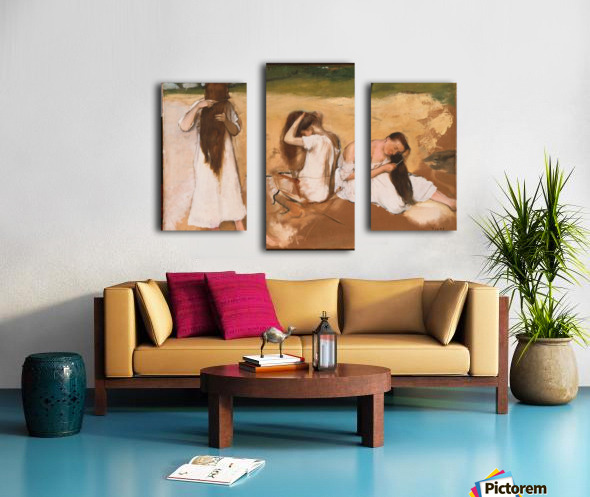 Women Combing Their Hair Canvas print