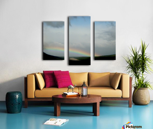 Rainbow at Thousand Smokes Canvas print