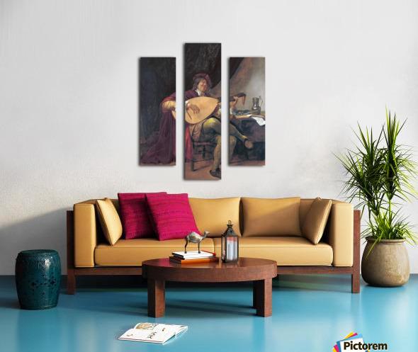 Selbstportrat als Lautenis Canvas print