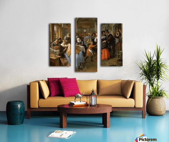 The cheated bridegroom Canvas print