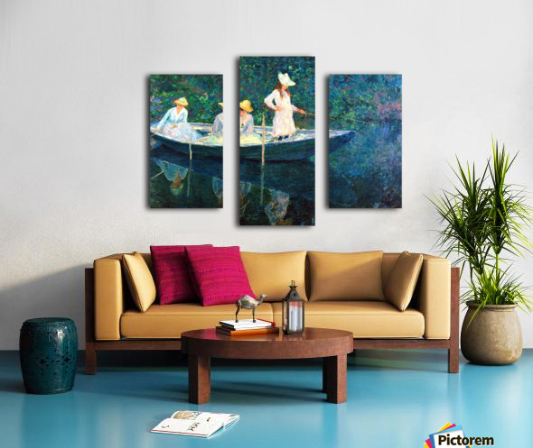women fishing Canvas print