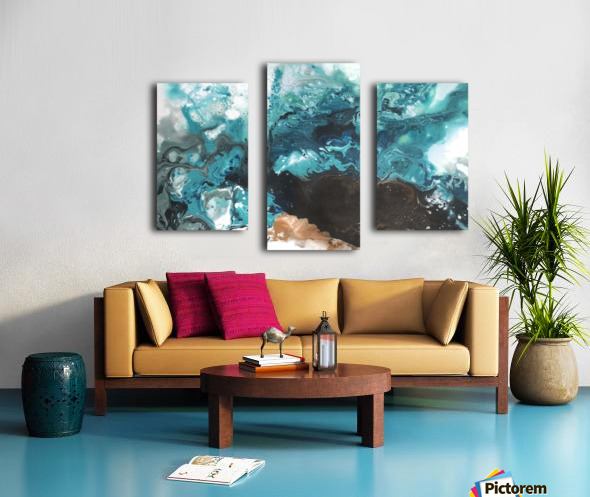 Ocean Glass Canvas print