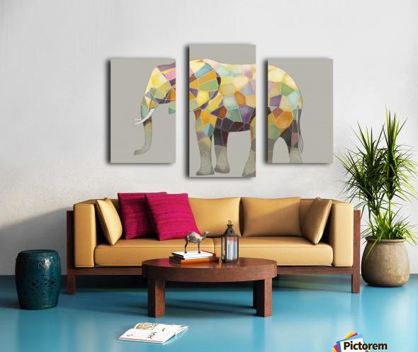 Elephant Mosaic Canvas print