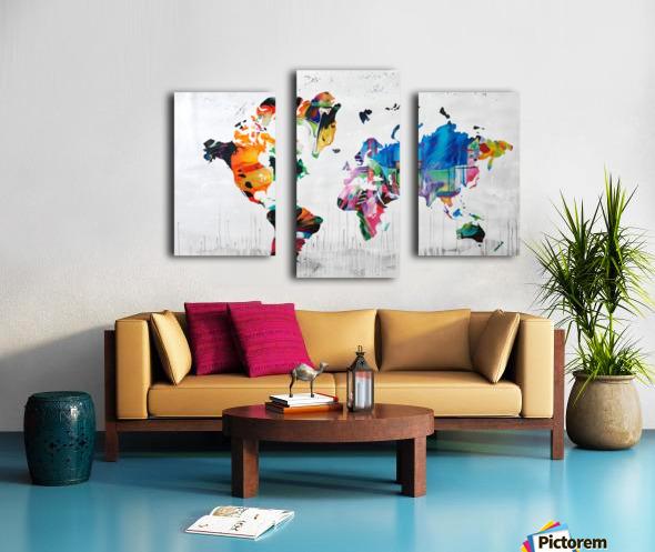 Monde Canvas print