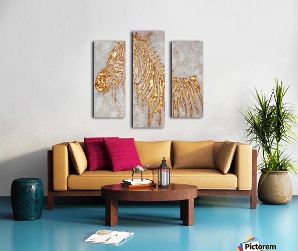 Gold Zebra Canvas print