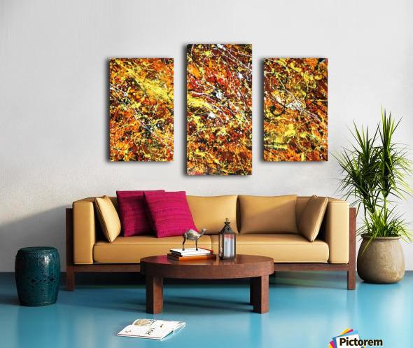 yellowy Canvas print