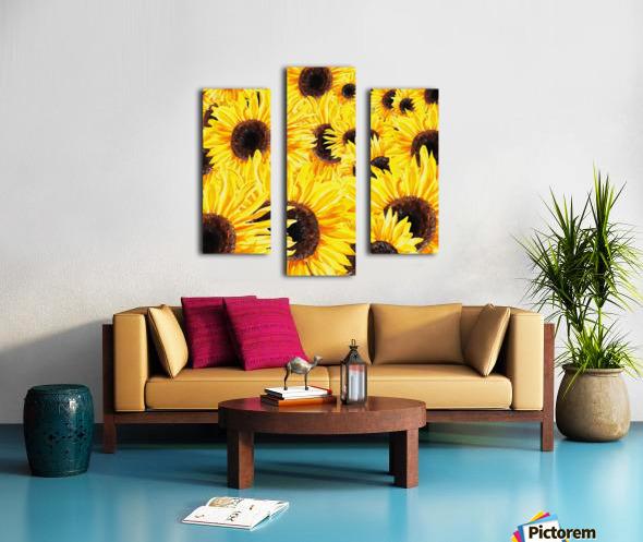 Sunflowers Field Watercolor Painting by Irina Sztukowski Canvas print