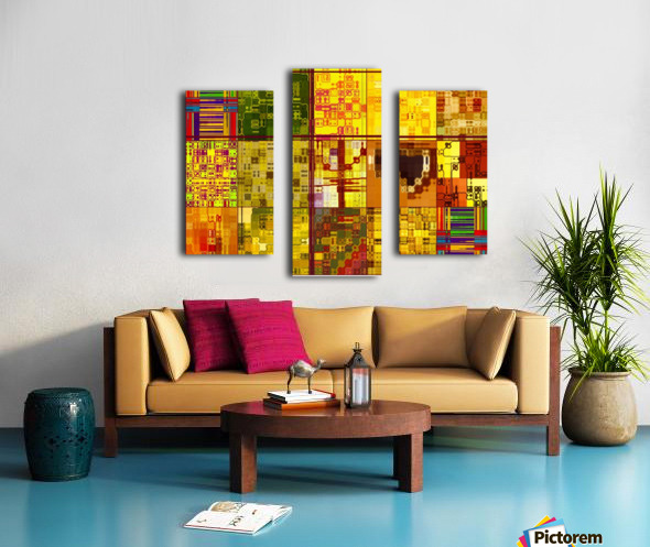 YELLOW COLLAGE Canvas print