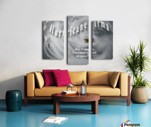 HurricaneIrma Impression sur toile